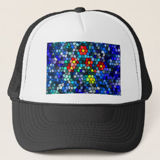Blossoms Surfacing On Water Mosaic Trucker Hat