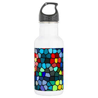 Blossoms Surfacing On Water Mosaic Water Bottle