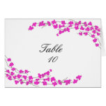 Blossoms Table Seating Card - Magenta
