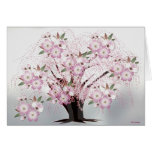 Blossoms White Origami Artwork Greeting Card
