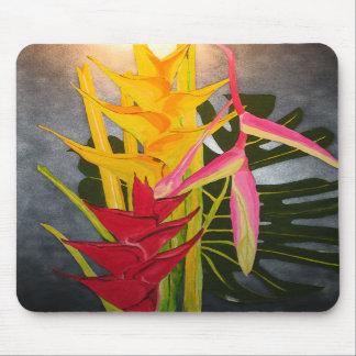 Blossums tropical Mousepad de pintura de acrílico Tapetes De Ratones