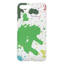 Blotchy Paint Brush spills phone case. iPhone 8 Plus/7 Plus Case