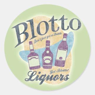 Blotto Liquors Classic Round Sticker
