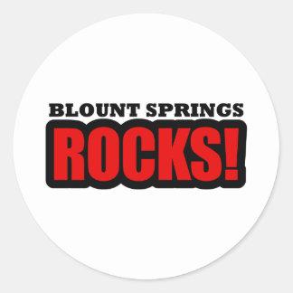 Blount Springs, Alabama City Design Classic Round Sticker