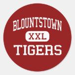 Blountstown - Tigers - Middle - Blountstown Round Sticker