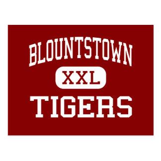 Blountstown - tigres - centro - Blountstown Tarjetas Postales