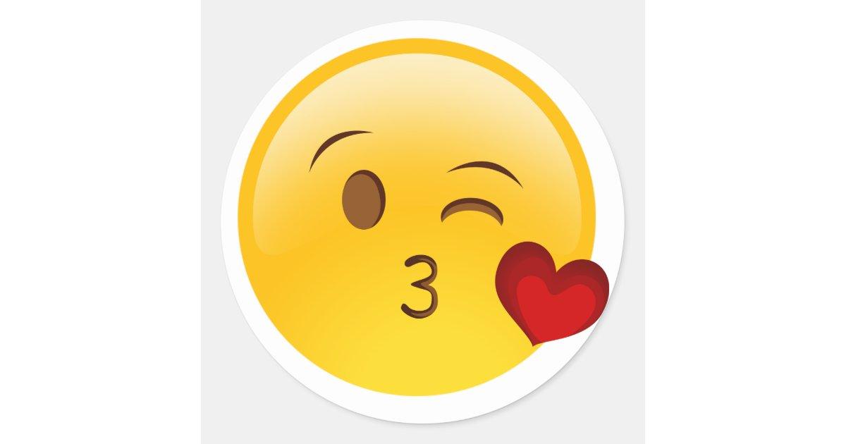 Blow A Kiss Emoji Sticker Zazzle