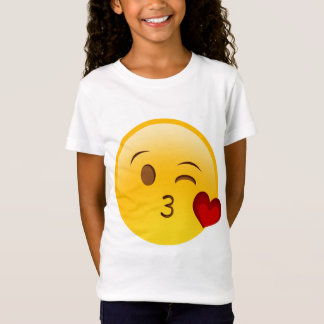 Blow a kiss emoji sticker T-Shirt