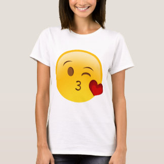 Blow a kiss emoji sticker T-Shirt
