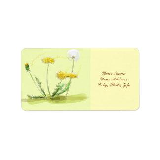 Blow Away Dandelion Address Label