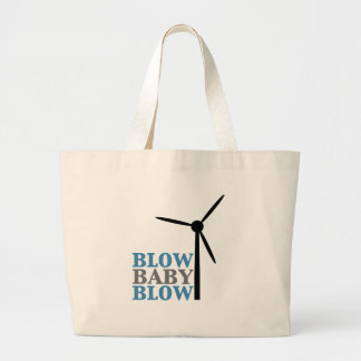 blow baby blow wind energy canvas bags