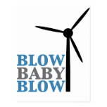 blow baby blow (wind energy) post cards