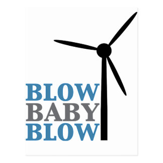 blow baby blow (wind energy) postcard