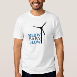 blow baby blow (wind energy) tee shirt
