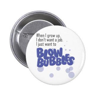 Blow Bubbles Pinback Buttons