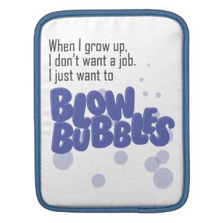 Blow Bubbles iPad Sleeve