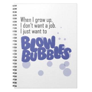 Blow Bubbles notebook