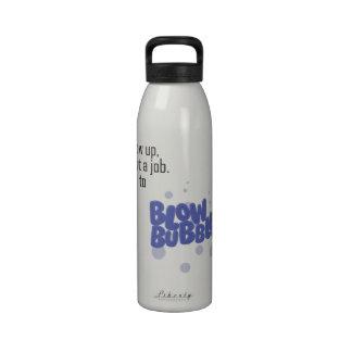 Blow Bubbles Water Bottle