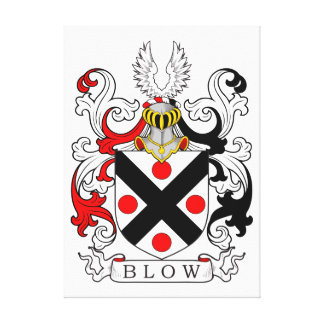 Blow Coat of Arms II Canvas Print
