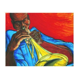 Blow Dat Trumpet - Canvas Canvas Print