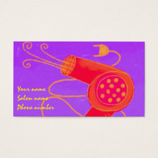 Blow Dryer 2 Stylist Business Card