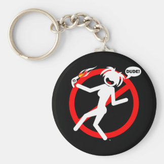 Blow-dryer hazard Buttons and Magnets Keychain