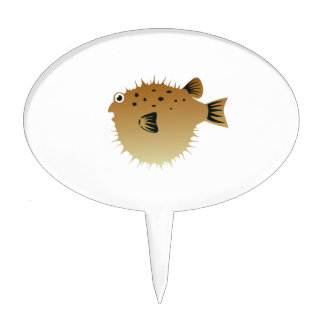 Blow Fish Cake Topper