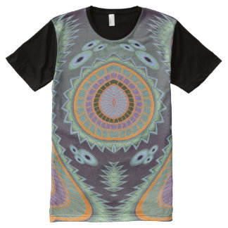 Blow Fish Groovy Moves All Over Print T Shirt