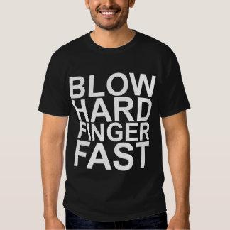 Blow Hard Finger Fast Flute Band Shirt