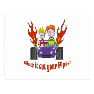 Blow it out your Pipes Postcard