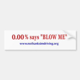 Blow Me Car Bumper Sticker