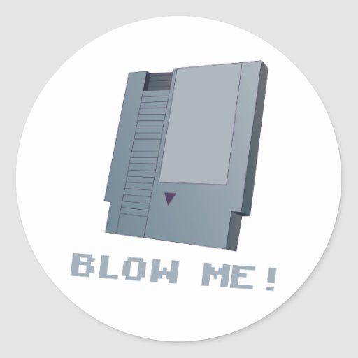 Blow Me! Classic Round Sticker