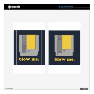 Blow me kindle fire decals