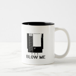 BLOW ME Two-Tone COFFEE MUG