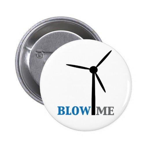 blow me wind turbine 2 inch round button