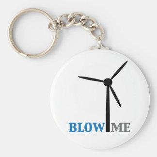 blow me wind turbine basic round button keychain