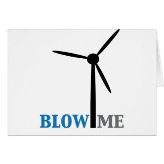 blow me wind turbine card