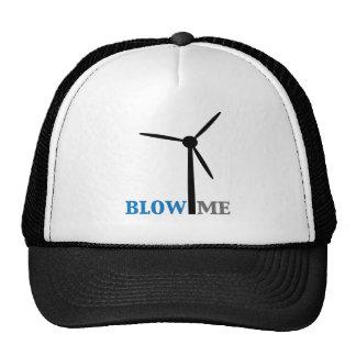 blow me wind turbine trucker hat