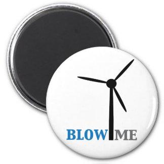 blow me wind turbine refrigerator magnet