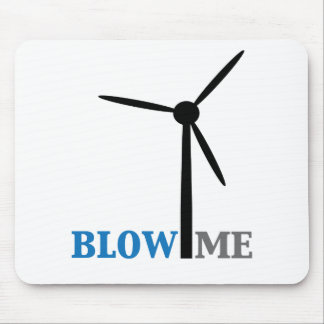 blow me wind turbine mouse pad