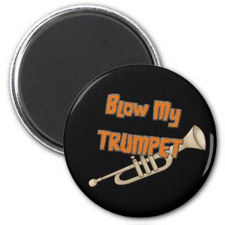 Blow My Trumpet Refrigerator Magnets