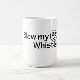 Blow my whistle classic white coffee mug