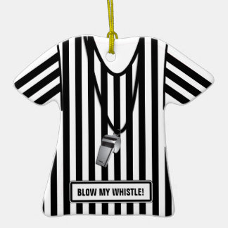 Blow my whistle, Funny Referee Christmas Ornament