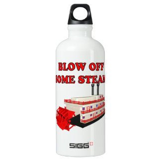 Blow Off Some Steam Aluminum Water Bottle