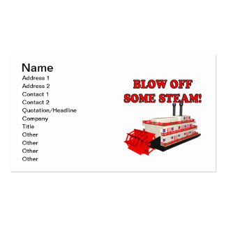 Blow Off Some Steam Double-Sided Standard Business Cards (Pack Of 100)