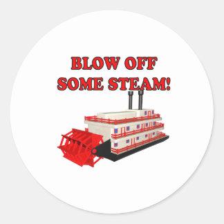 Blow Off Some Steam Classic Round Sticker