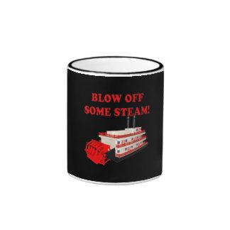 Blow Off Some Steam Ringer Coffee Mug