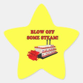 Blow Off Some Steam Star Sticker