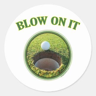Blow On It Golf Classic Round Sticker