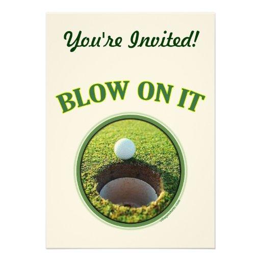 Blow On It Golf Custom Invites